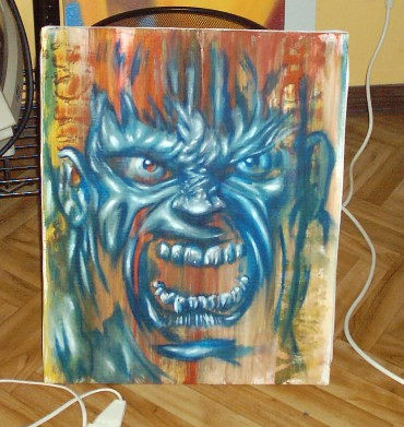 Angry day canvas