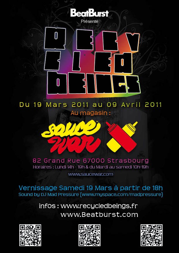 Exposition Recycled Beings – Sauce War – Strasbourg