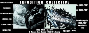 Exposition collective Two Aces Tattoo – Strasbourg