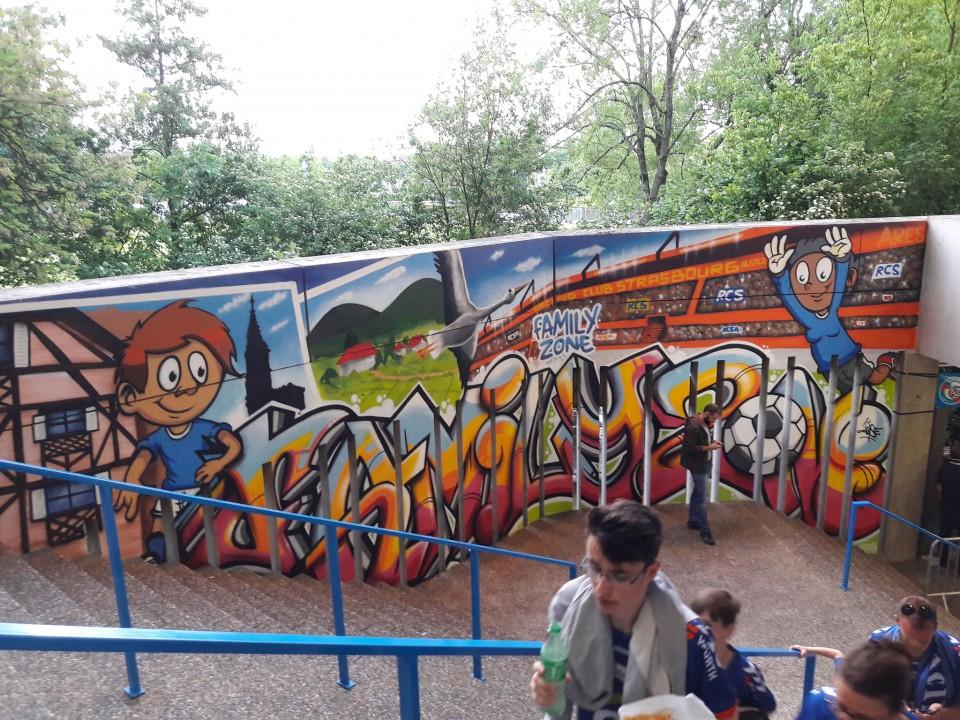 Fresque Racing Club de Strasbourg