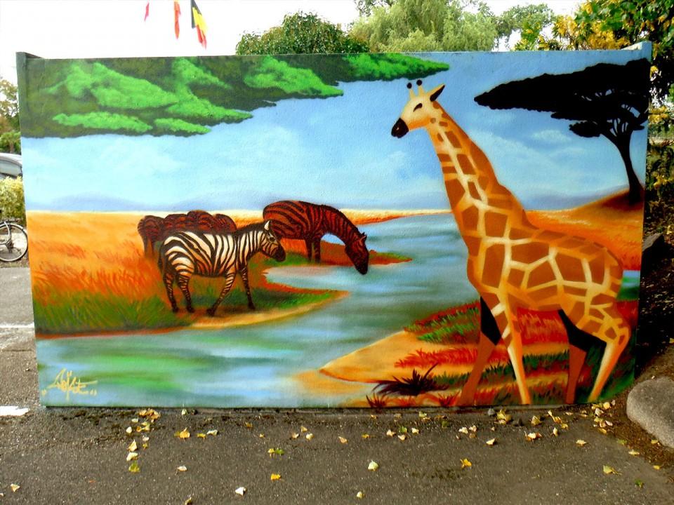 Fresque Croisi Europe Strasbourg