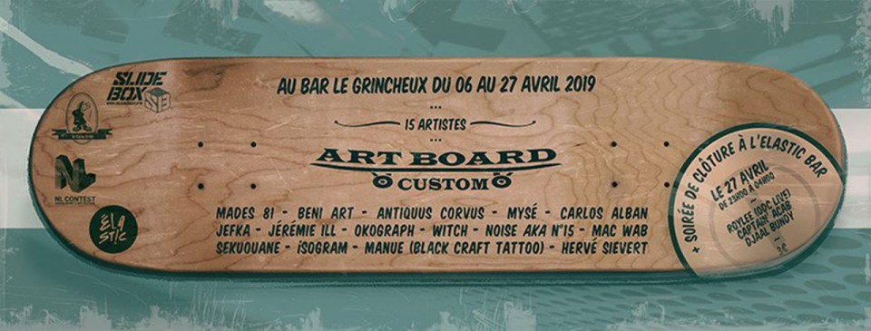 Exposition collective Art Board custom – Strasbourg