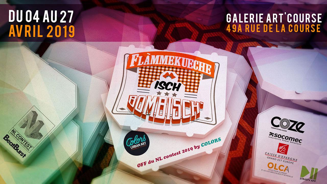 Exposition collective Flammekueche ish Bombish – Strasbourg