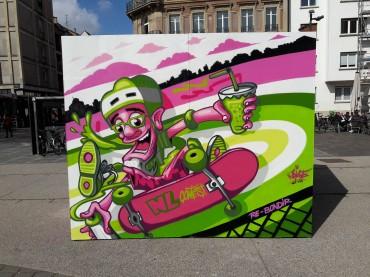 Peinture Live – Place d'Austerlitz – Strasbourg