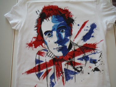 Custom Johnny Rotten Tshirt – Strasbourg